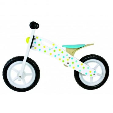 Rowerek biegowy w kropki niebieski Jabadabado