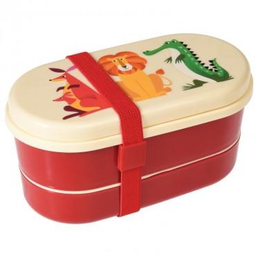 Kolorowa śniadaniówka lunchbox bentobox Rex London