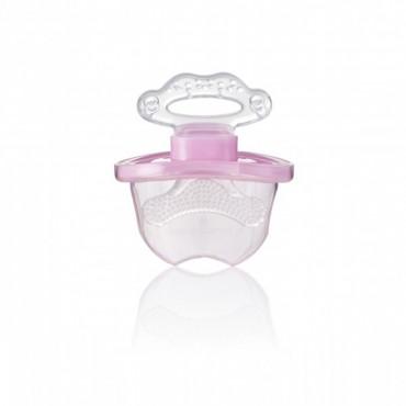 FrontEase Teether gryzak do zębów przednich dla dzieci od 3 miesiąca życia różowy Brush Baby