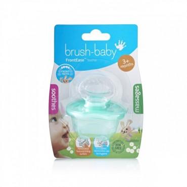 FrontEase Teether gryzak do zębów przednich dla dzieci od 3 miesiąca życia zielony Brush-Baby