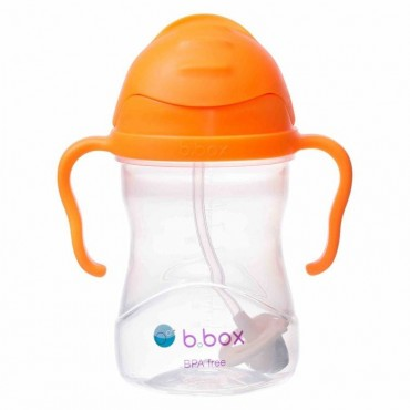 Innowacyjny bidon ze słomką - nowa wersja - pomarańczowy b.box
