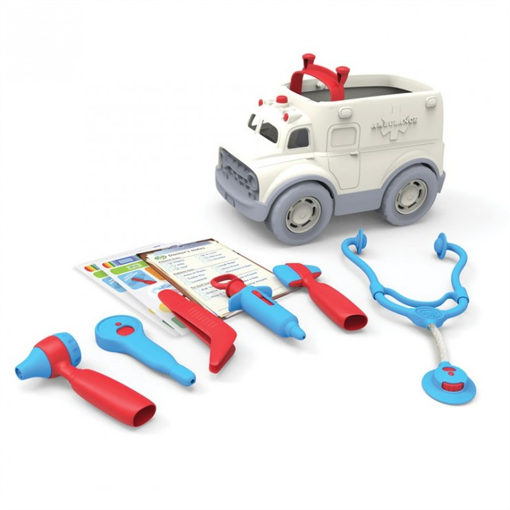 Ambulans i zestaw lekarza Green Toys