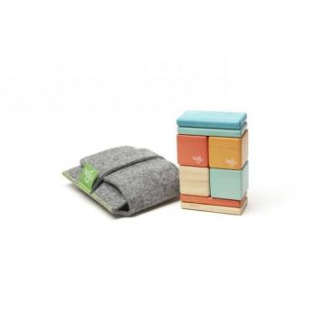 Drewniane klocki magnetyczne Pocket Pouch Original 8szt Sunset Tegu