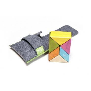 Drewniane klocki magnetyczne Pocket Pouch Prism 6szt Tints Tegu