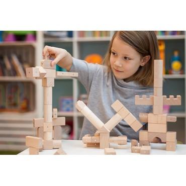 Drewniane klocki magnetyczne Basic Natural Kooglo