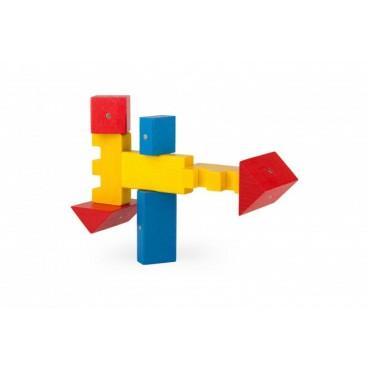 Drewniane klocki magnetyczne Basic Color Kooglo