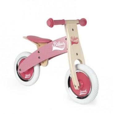 Rowerek biegowy różowy Little Bikloon 2+ Janod