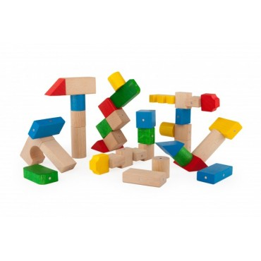 Drewniane klocki magnetyczne Mega color Kooglo