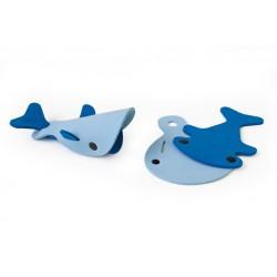 Zestaw puzzli piankowych 3D Quutopia Wieloryby Quut
