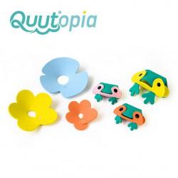 Zestaw puzzli piankowych 3D Quutopia Żabki Quut