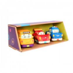 Mini Wheeee-ls! – zestaw 3 mini autek z napędem z wyścigówką B.Toys