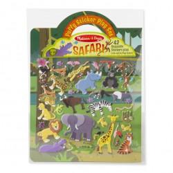 Wypukłe wielorazowe naklejki Safari Melissa&Doug