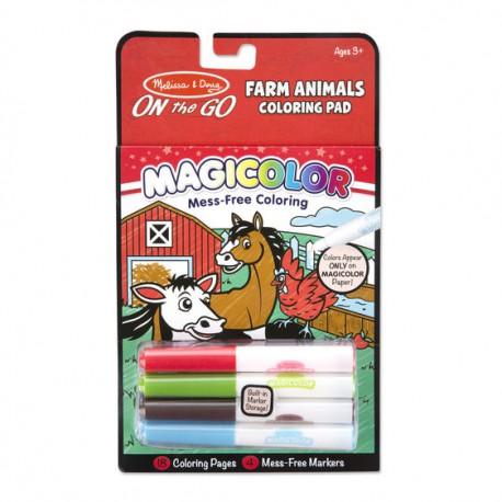 Magiczna kolorowanka On the Go Zwierzęta z farmy Melissa&Doug