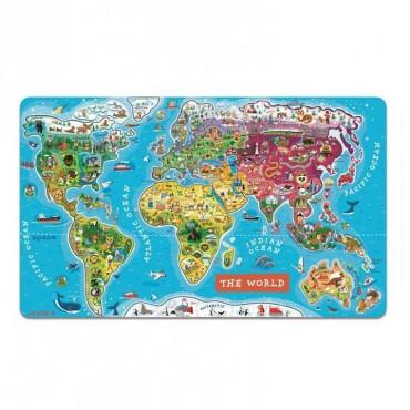 Puzzle magnetyczne Mapa świata Janod