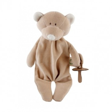Wooly Organic Classic Teddy Miś Strażnik smoczka 25cm