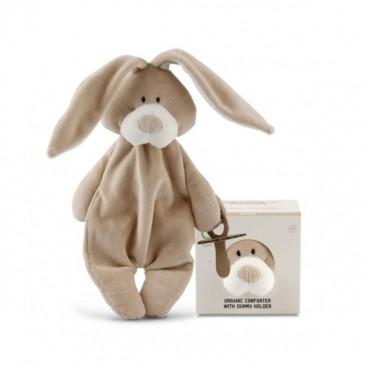 Wooly Organic Classic Bunny Zajączek Strażnik smoczka 26 cm