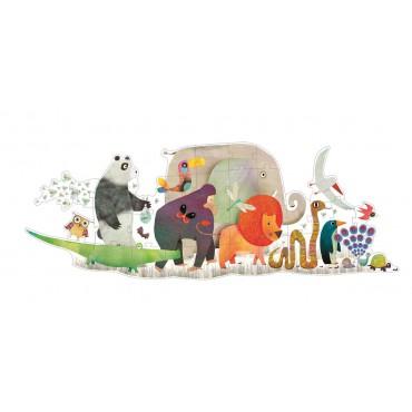 Puzzle Parada zwierząt 1,33...