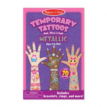 Zestaw metalicznych tatuaży...