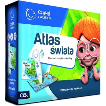 Czytaj z Albikiem. Zestaw pióro + Atlas świata
