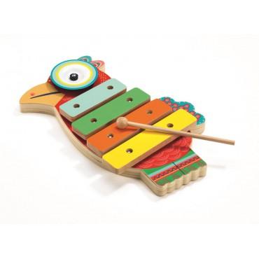 Cymbałki i ksylofon Papuga...