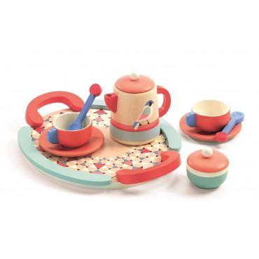 Drewniany zestaw Tea Time...