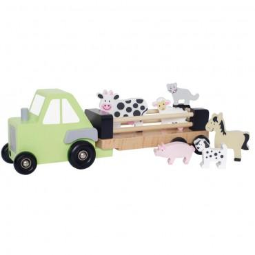 Drewniany traktor ze...