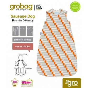 Śpiworek Orla Kiely Sausage Dog - 2,5 tog Gro Company