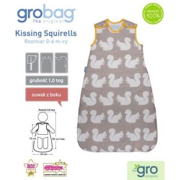 Śpiworek Grobag Anorak Kissing Squirells - grubość 1,0 tog Gro Company