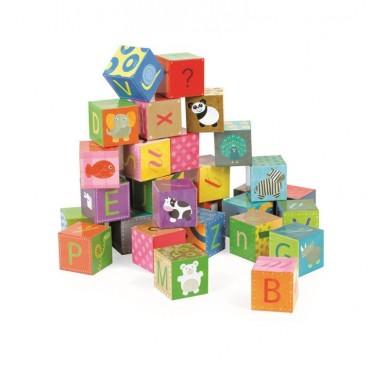 Klocki puzzle 6w1 Alfabet Janod