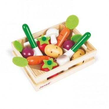 Warzywa drewniane 12 szt. w skrzyneczce Janod