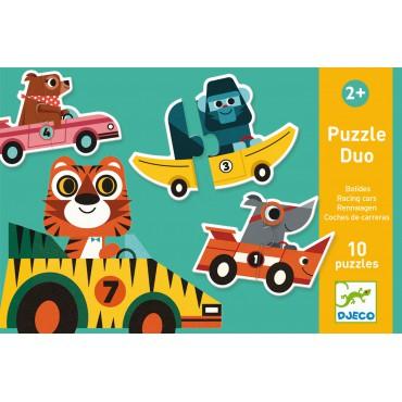 Puzzle duo Wyścigówki Djeco