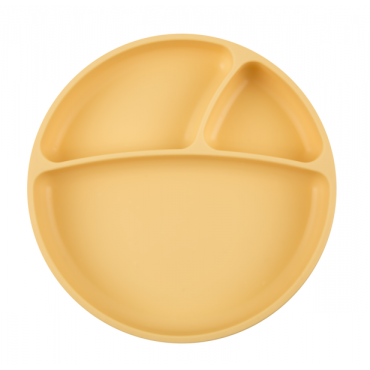 Talerzyk silikonowy żółty...