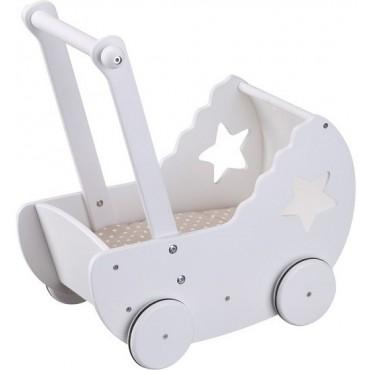 Kids Concept Drewniany Wózek Z Gwiazdką Biały