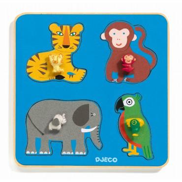 Drewniane puzzle Rodzina w...