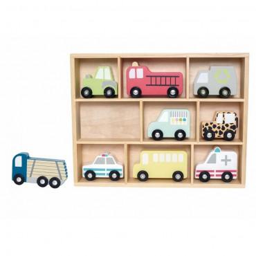 Drewniane pojazdy - zestaw...
