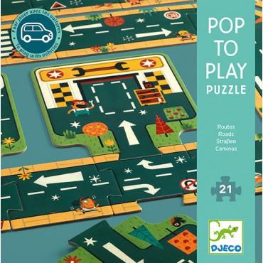 Puzzle kartonowe Drogi Djeco