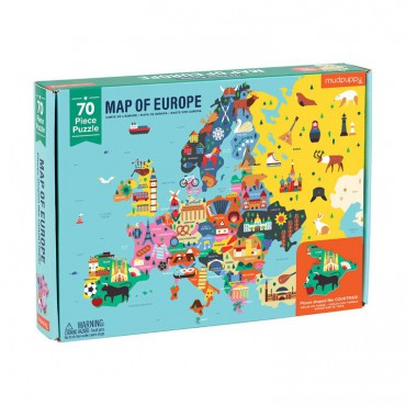 Puzzle Mapa Europy z...