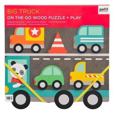 Puzzle Drewniane Samochody...