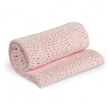 Kocyk Bawełniany Tkany Pink...