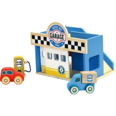 Garaż drewniany z 2 autami...