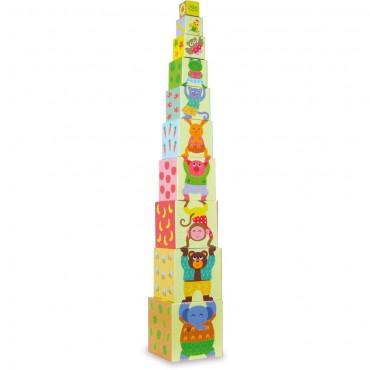 Piramida klocków Zwierzęta...