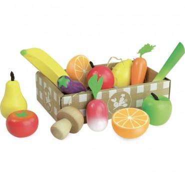 Owoce i warzywa drewniane...