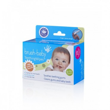 Brush-Baby Teething Wipes -...