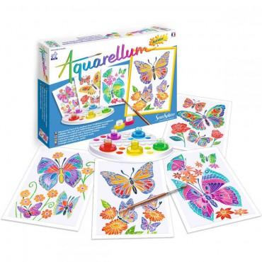 Aquarellum Motyle i Kwiaty...
