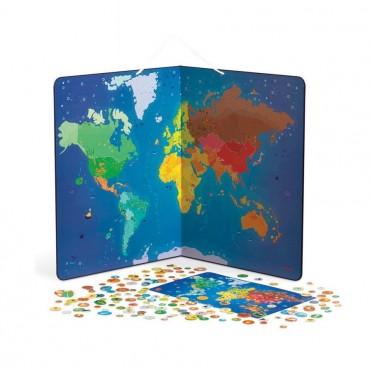 Puzzle magnetyczne Zwierzęta świata Janod