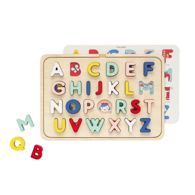 Puzzle Drewniane Alfabet Wielojęzyczny Petit Collage