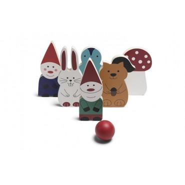 Kręgle drewniane krasnoludki BS Toys