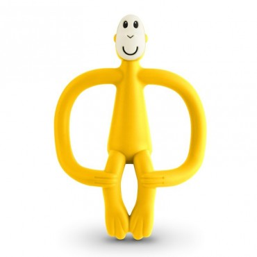 Gryzak masujący ze szczoteczką yellow Matchstick Monkey