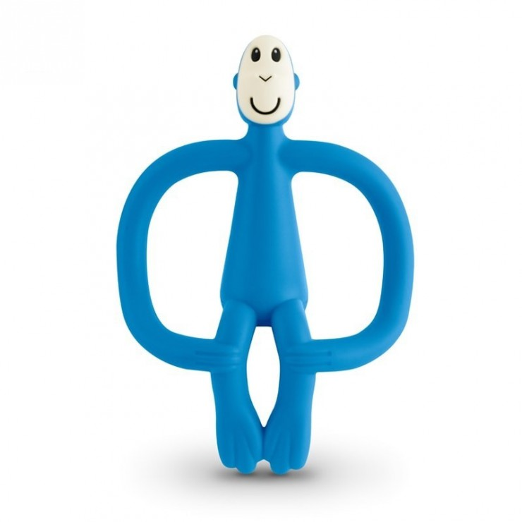 Gryzak masujący ze szczoteczką blue Matchstick Monkey