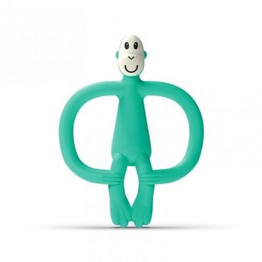 Gryzak masujący ze szczoteczką Mint Green Matchstick Monkey